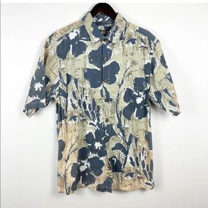 KAHALA men's Hawaiian button down Shirt Floral